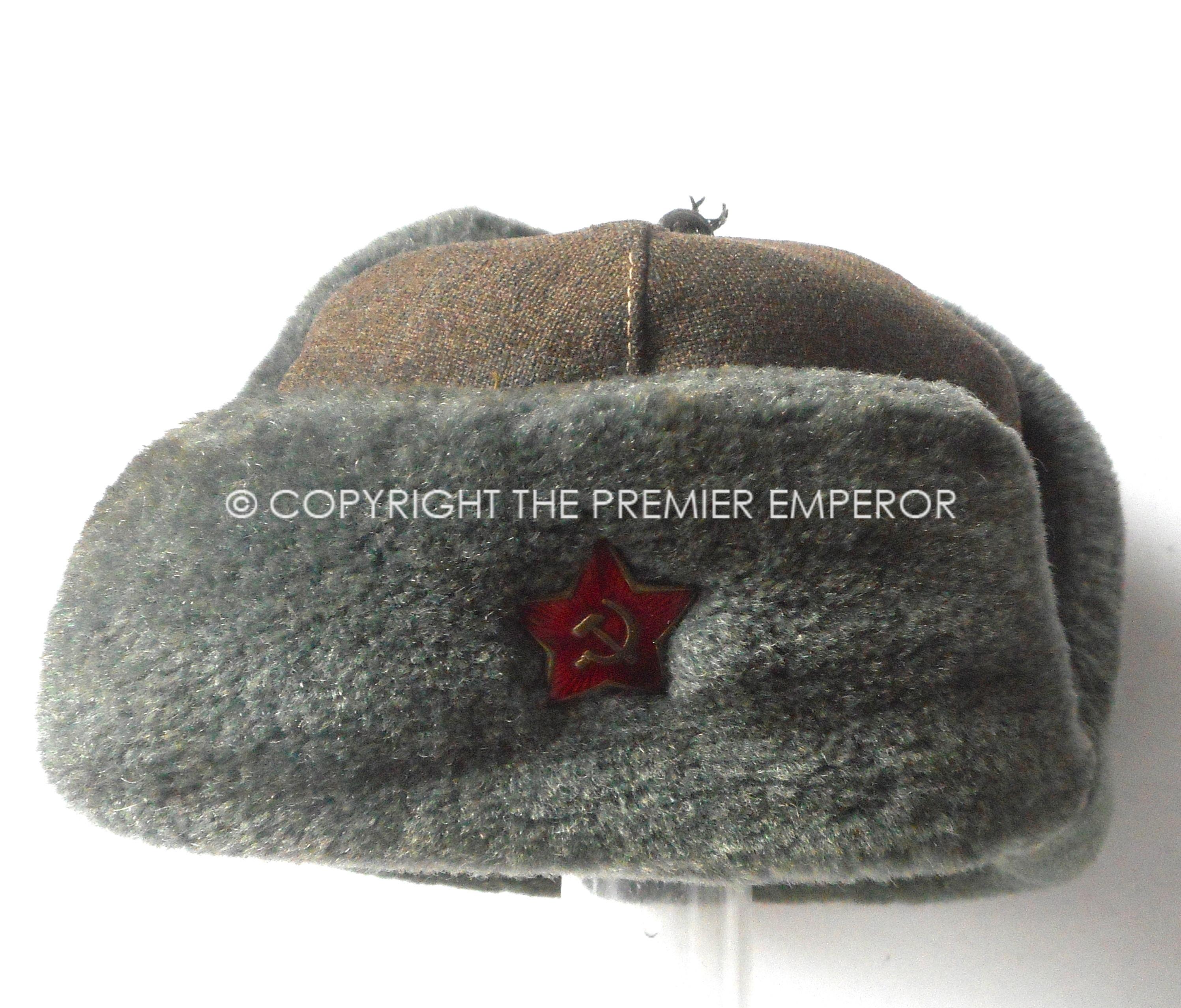 f4bdc1f701035 Russia  Soviet Red Army World war Two fur cap with insignia. Circa.1941-45  – Relic Militaria – Military Antiques and Memorabilia