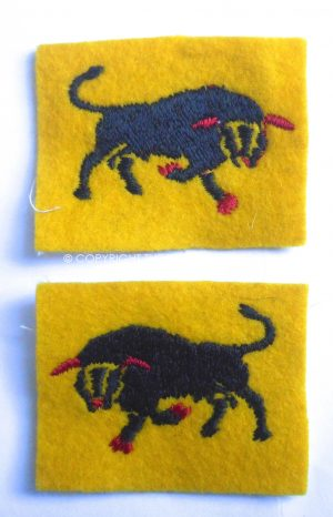 British 11th Armoured Formation matching pair of Formation signs.Circa.1939/45