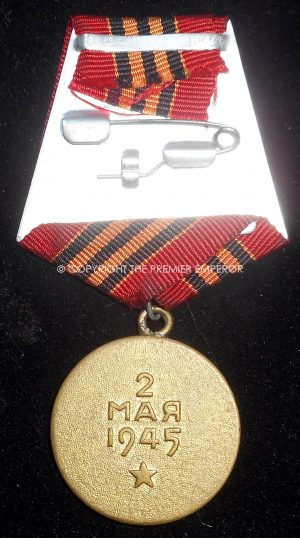 Russia: Soviet medal for the Capture of Berlin.Circa.1945
