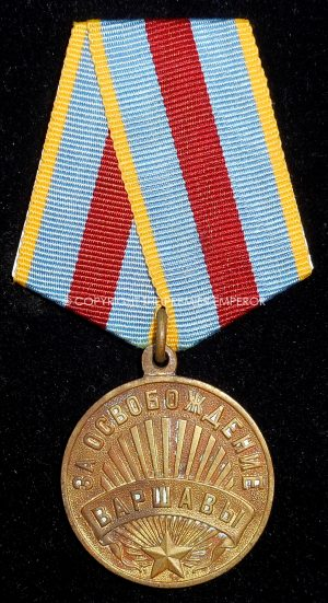 Russia: Soviet medal for the Capture of Warsaw.Circa.1945