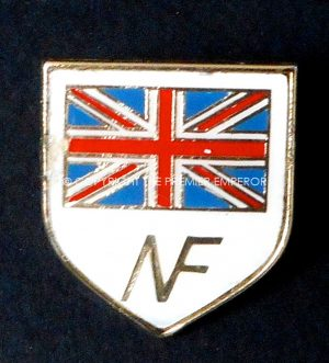 British: British National Front membership lapel badge. Circa.1970's