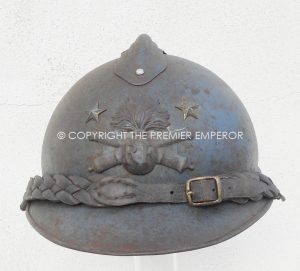France: M15 Casque Adrian, Very Rare General de Brigade d'Artillerie 1st  type.Circa.1915/18