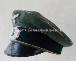 German: German Army Infantry peaked cap collected immediately after D-Day 1944