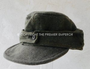 1b66c7febe1 German Waffen SS M43 cap (No insignia) collected 1944 straight after the  Normandy campaign ...